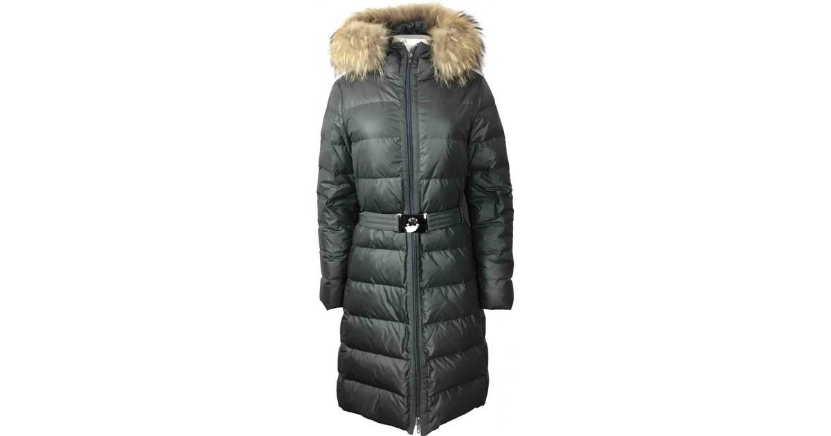 307fcccdc Moncler - Multicolor Anthracite Synthetic Coat - Lyst