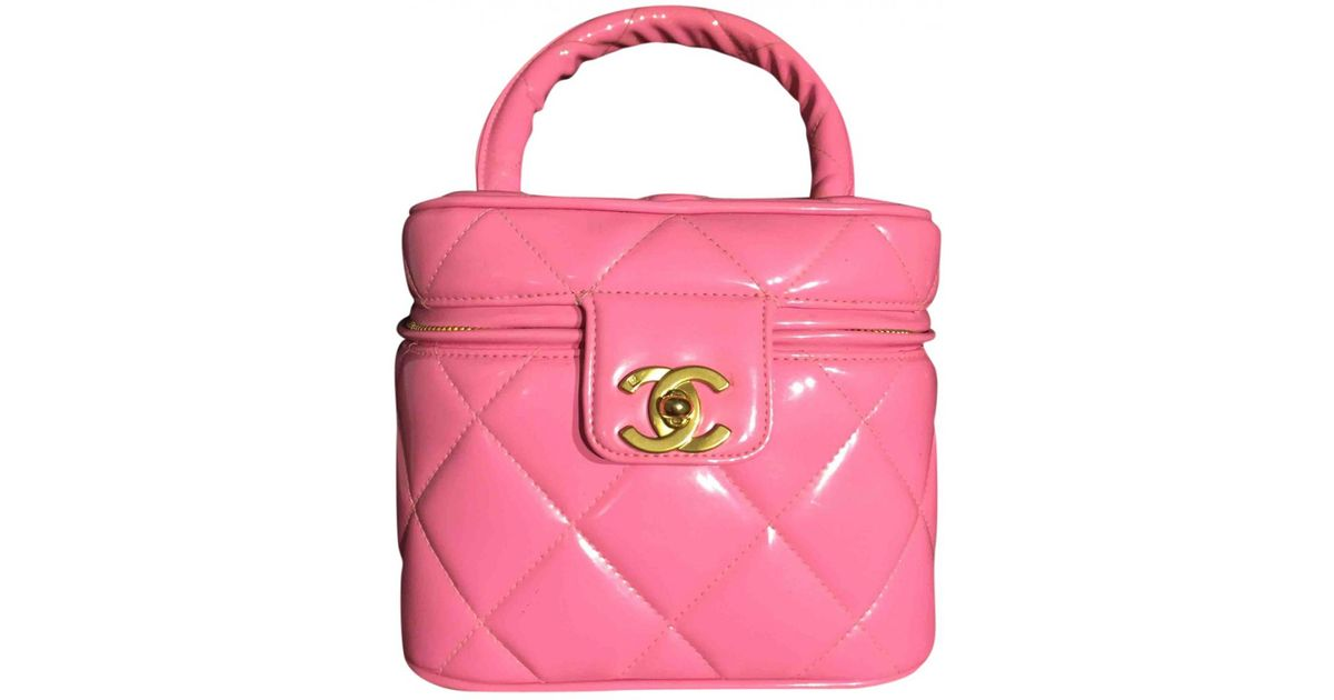 a8acdbe6d660ed Chanel Vanity Patent Leather Handbag in Pink - Lyst