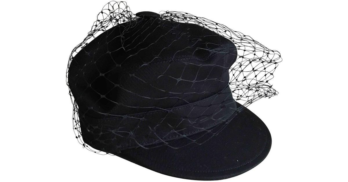969a319c4ce Lyst - Dior Pre-owned Black Cotton Hat in Black