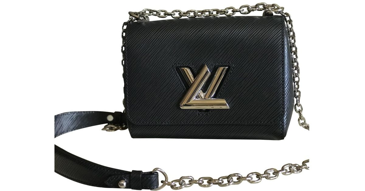 68dd9b16b3d0 Louis Vuitton Pre-owned Twist Black Leather Handbags in Black - Lyst