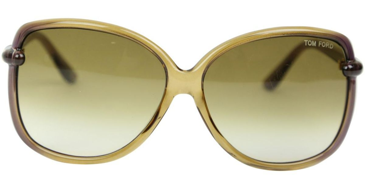 6c1dfad9881e2 Lyst - Tom Ford Pre-owned Beige Plastic Sunglasses in Natural