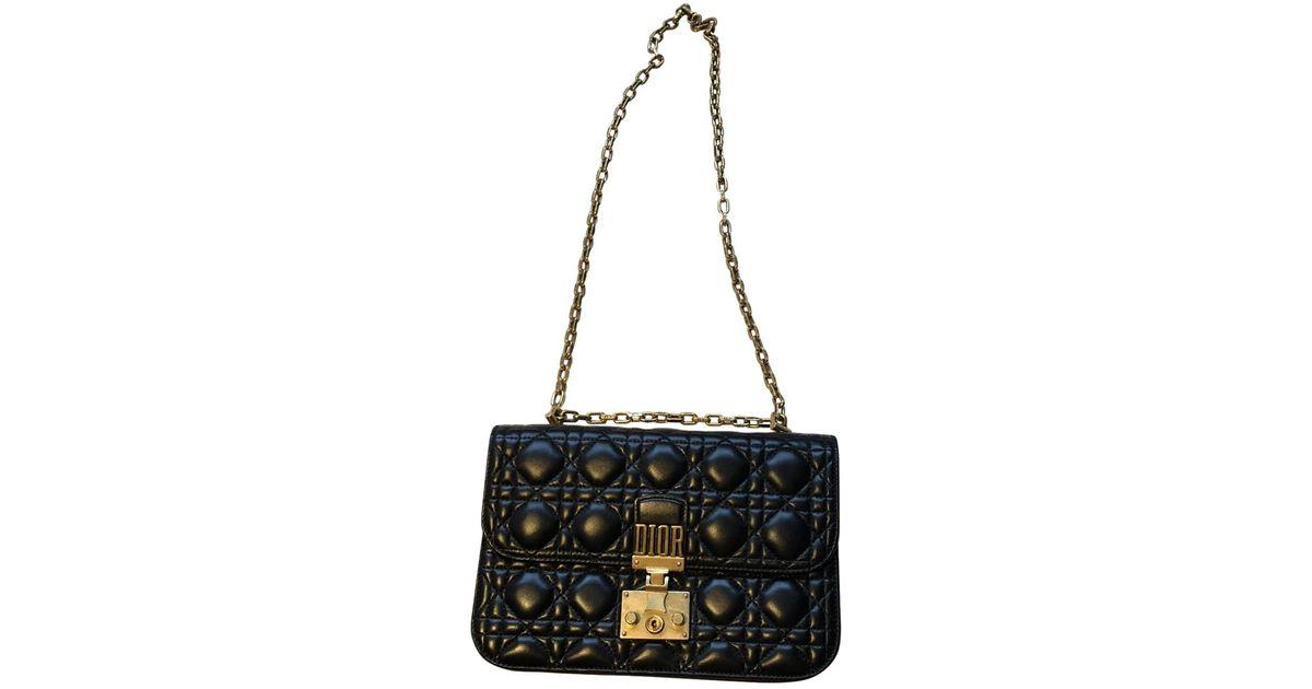 f79f0e9ca8 Sac à main Addict en cuir Dior en coloris Noir - Lyst