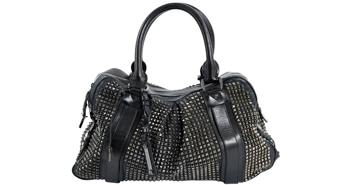 9c6aba3ad7 Lyst - Burberry Black Leather Handbag in Black