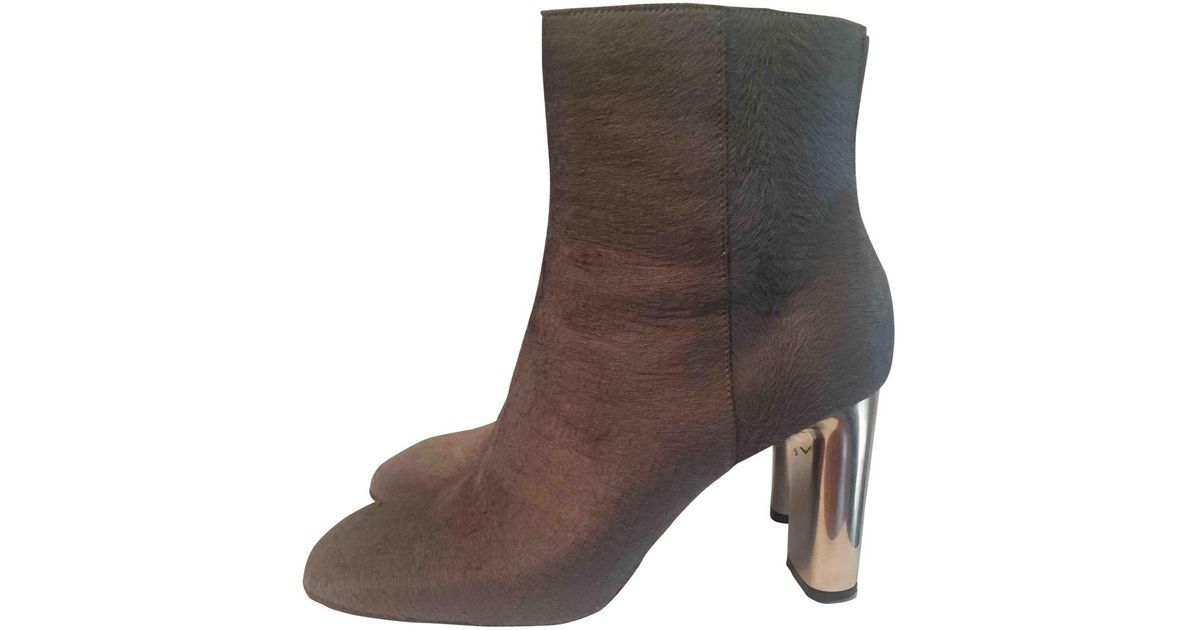 Pre-owned - Pony-style calfskin boots Celine IAeXfr8MAk