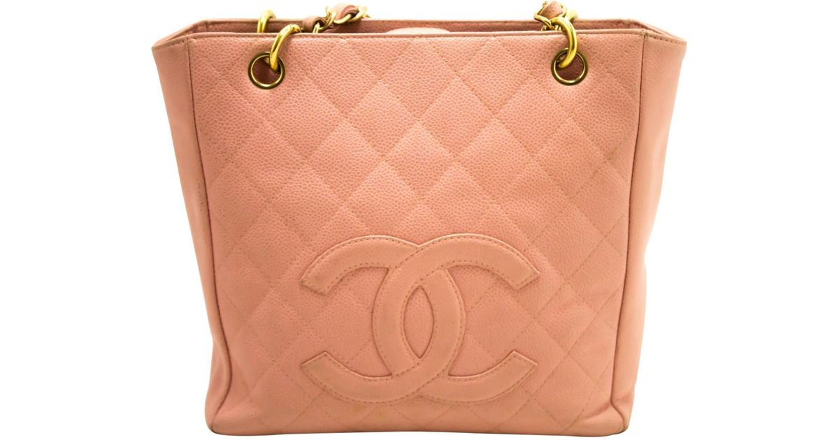 9704e255a185 Chanel Pre-owned Vintage Pink Leather Handbag in Pink - Lyst