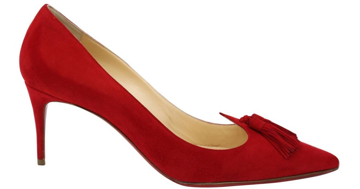 buy online 684c7 bc0a3 Christian Louboutin - Red Pre-owned Heels - Lyst