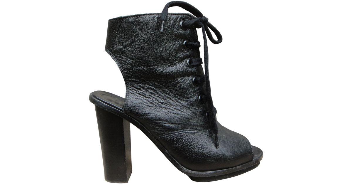 Claudie Pierlot Leather Open Toe Boots rtapm0Iw