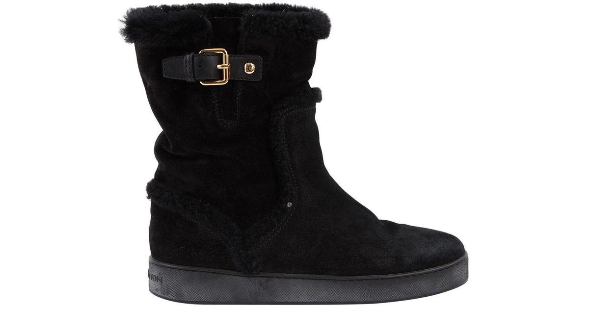 4174e9f715e7 Lyst - Louis Vuitton Snow Boots in Black