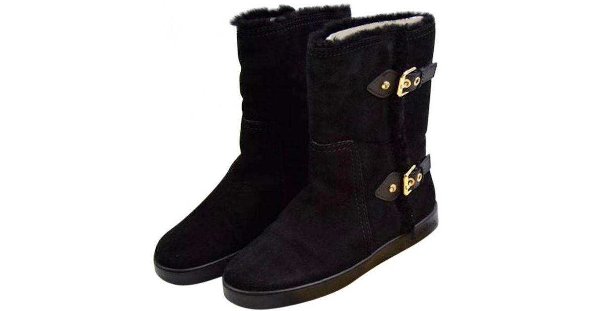 65faa97bfcc6 Lyst - Louis Vuitton Pre-owned Snow Boots in Black