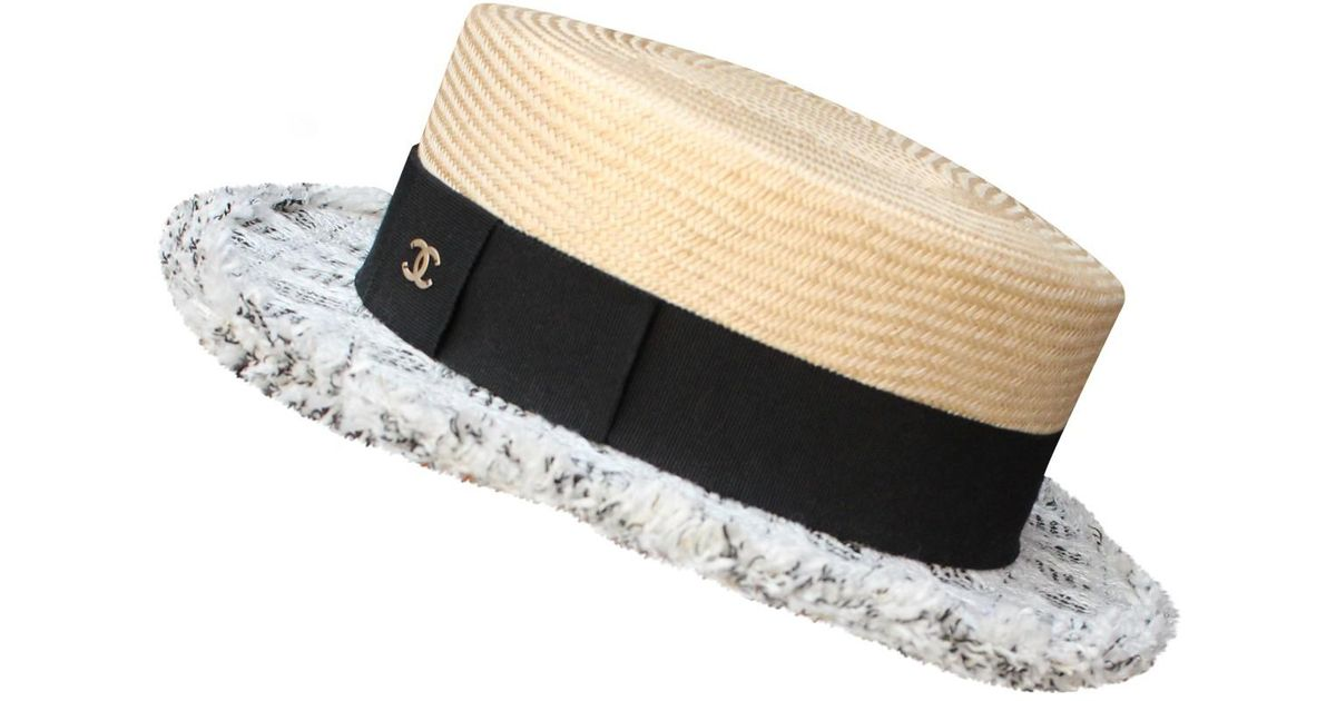 Lyst - Chanel Pre-owned Hat in Black 1483387f2