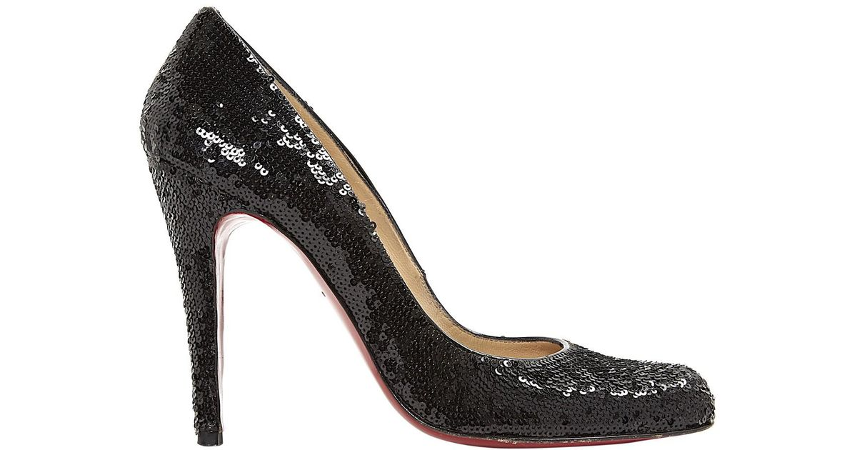 info for 2b7df bbb90 Christian Louboutin - Black Pre-owned Very Privé Glitter Heels - Lyst