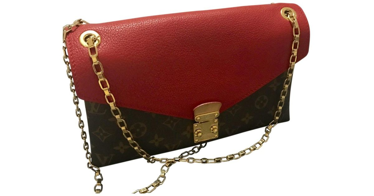 70123c44ba62 Louis Vuitton Pallas Cloth Crossbody Bag in Red - Lyst