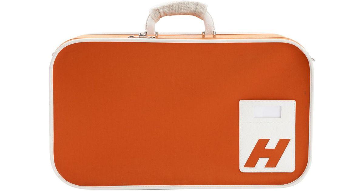 En Voyage Toile Sac Orange De Lyst Hermès Coloris luK13FJTc
