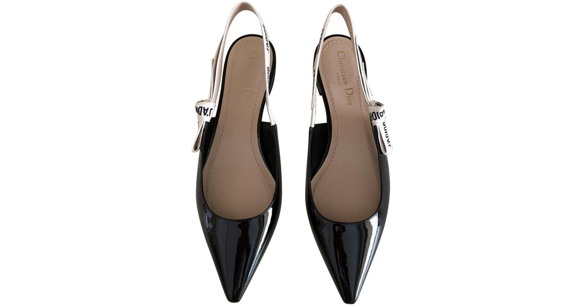 fe04dc1ea25 Lyst - Dior J a Patent Leather Ballet Flats in Black