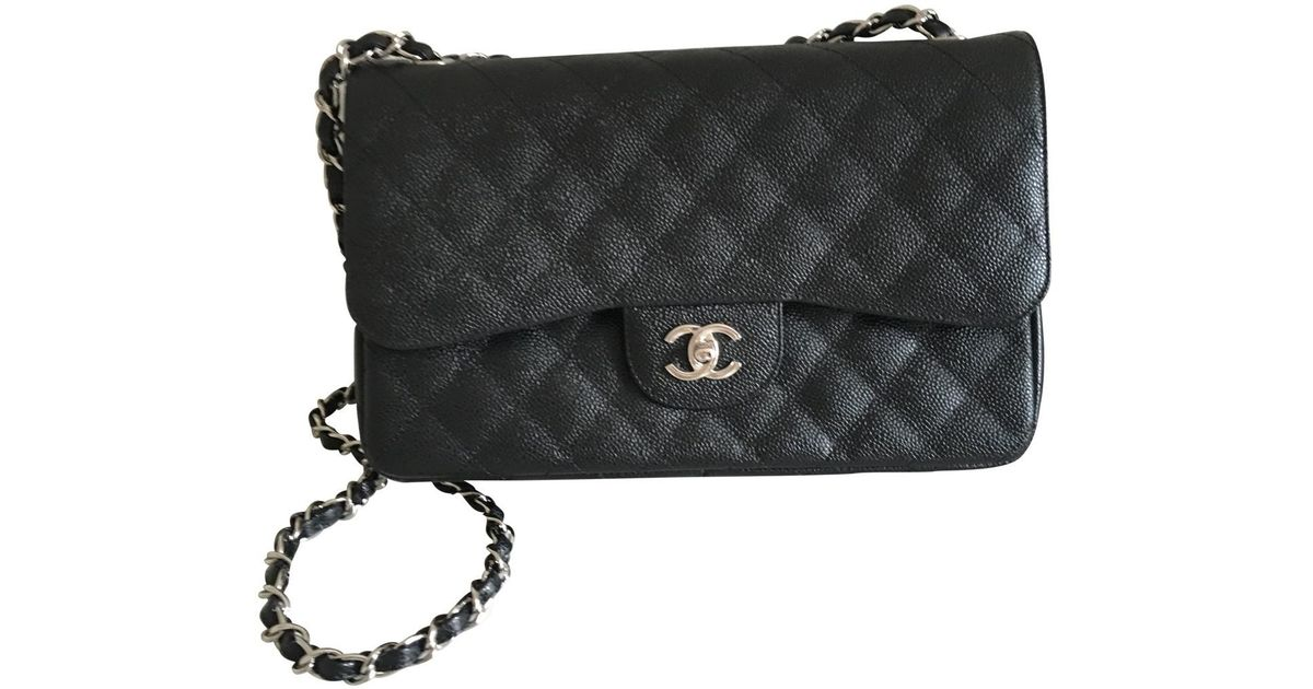 Lyst - Chanel Timeless Leather Crossbody Bag in Black 54bbfeef4531