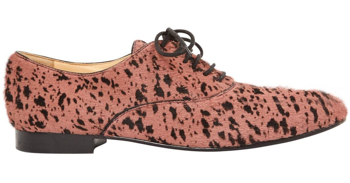 Outlet Geniue Stockist Sergio Rossi Pony-style Calfskin Lace Ups Eastbay Cheap Online Buy Cheap Perfect Cheap Sale With Mastercard eiEa8OQn