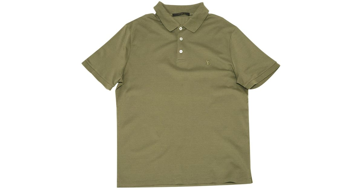fd581966 Louis Vuitton Pre-owned Polo Shirt in Green for Men - Lyst