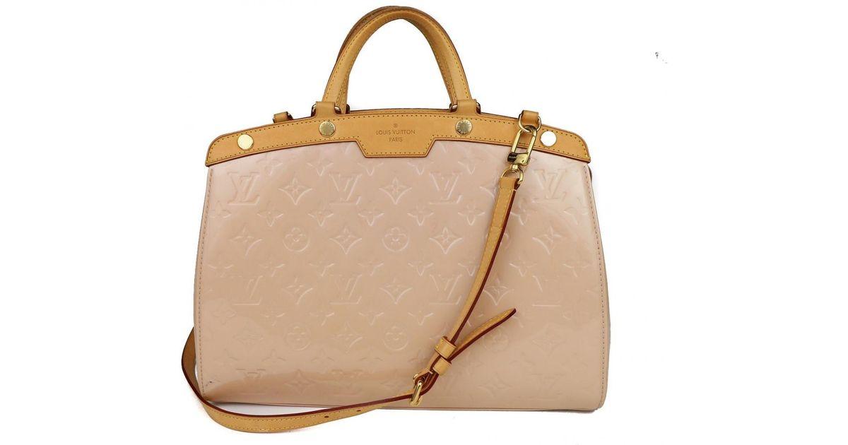 3de4c7fb5189 Lyst - Louis Vuitton Pre-owned Bréa Pink Patent Leather Handbags in Pink