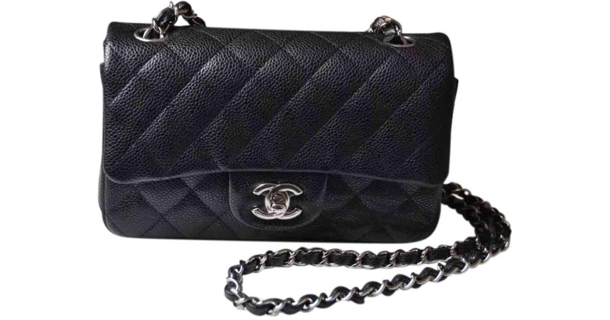Lyst Chanel Pre Owned Timeless Leather Crossbody Bag In Black