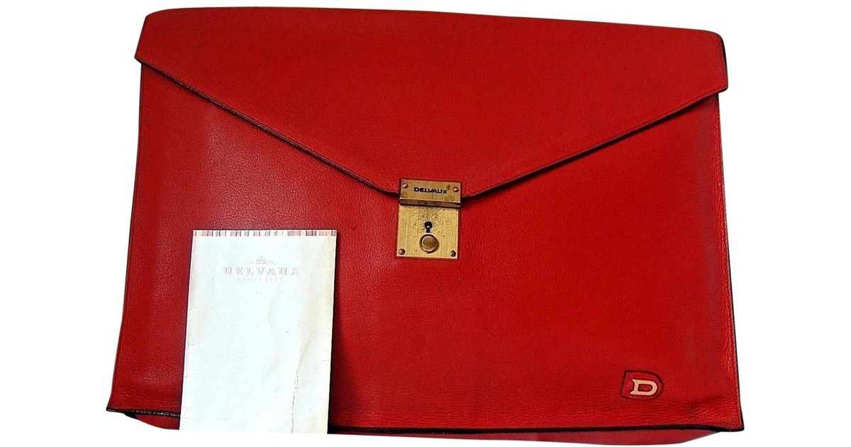 Lyst - Delvaux Leather Satchel in Red c5a96efa45824