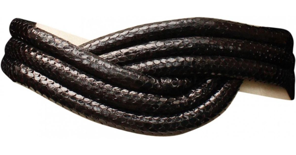 Lyst - Ceinture en python Alaïa en coloris Noir 752cb80498e