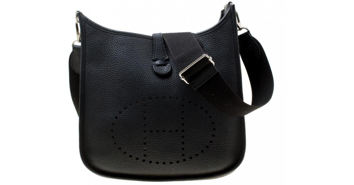 Evelyne Cuir Sac Lyst Black À Main Hermès En IDH2E9