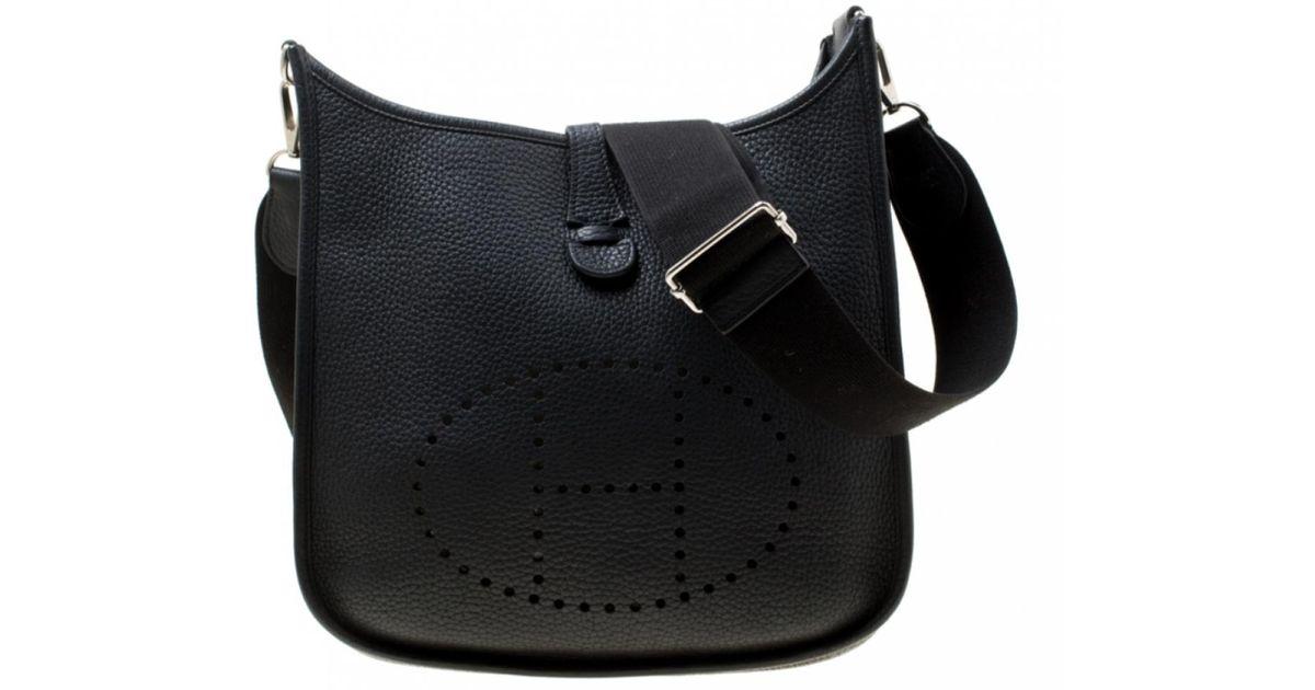 Sac Main Black Hermès À En Lyst Cuir Evelyne vm8OnwN0