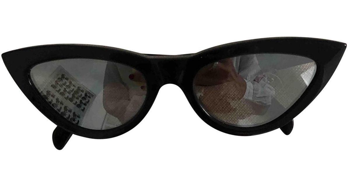 faf9e6a7215 Céline Sunglasses in Black - Lyst