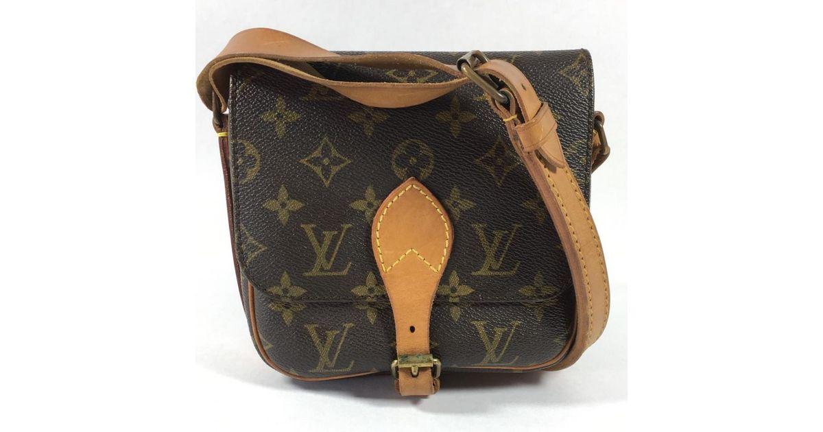 415ce7eb9a89 Lyst - Sac à main Cartouchière en toile Louis Vuitton en coloris Marron