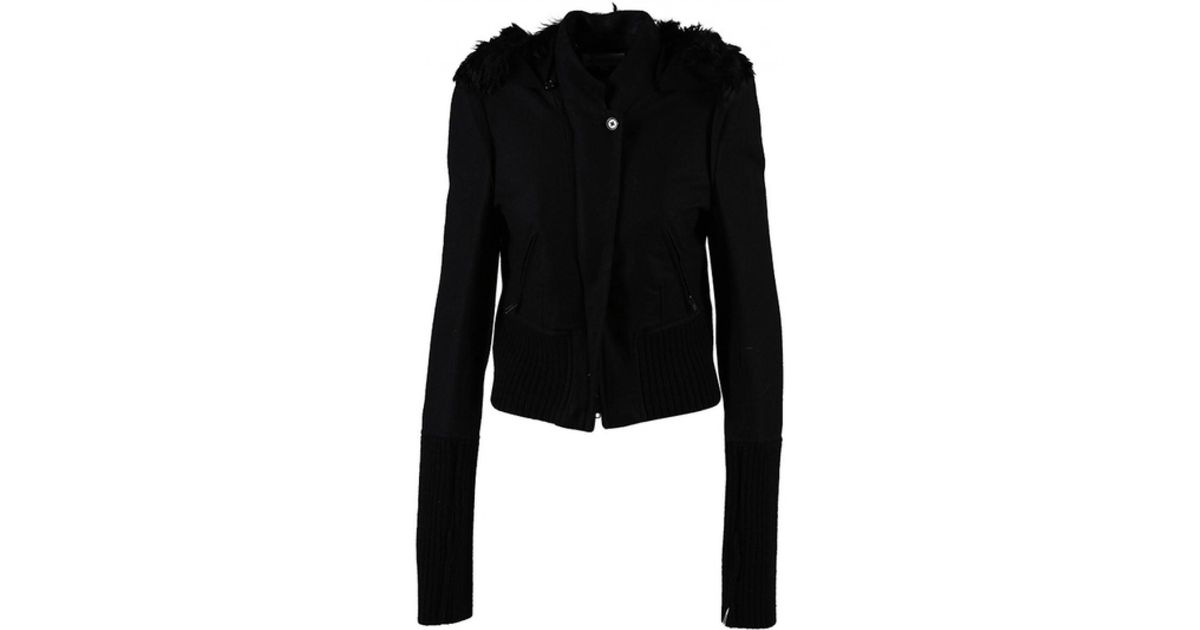72fb13471a5 Ann Demeulemeester Wool Jacket in Black - Lyst