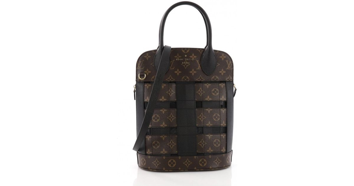 1a9a55cc5e08 Lyst - Louis Vuitton Tressage Tote Cloth Tote in Brown