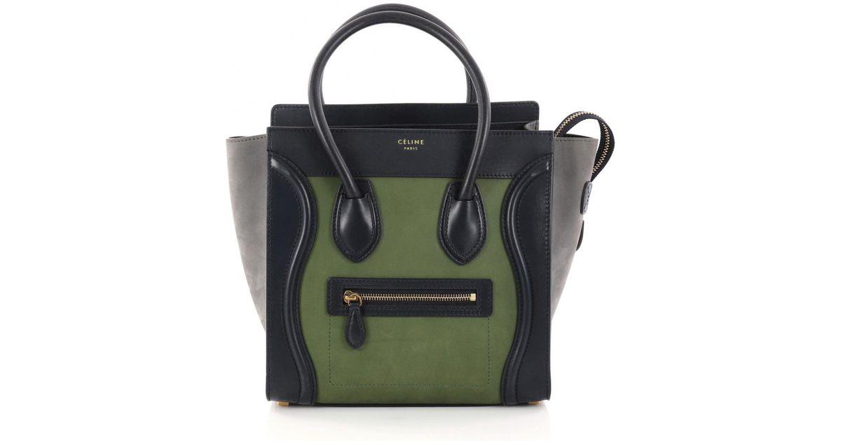 Lyst - Céline Pre-owned Blue Leather Handbag in Blue 203a9e0869ed0
