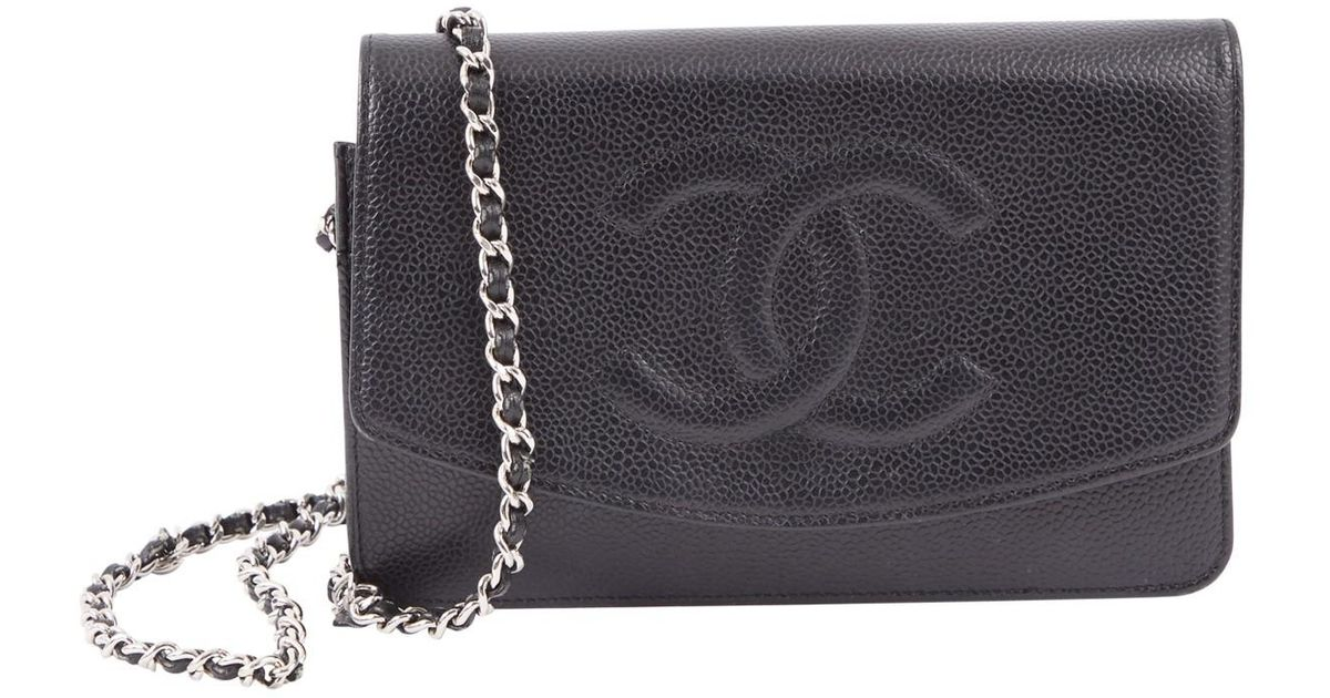 Lyst - Chanel Leather Crossbody Bag in Black aca5718c3725