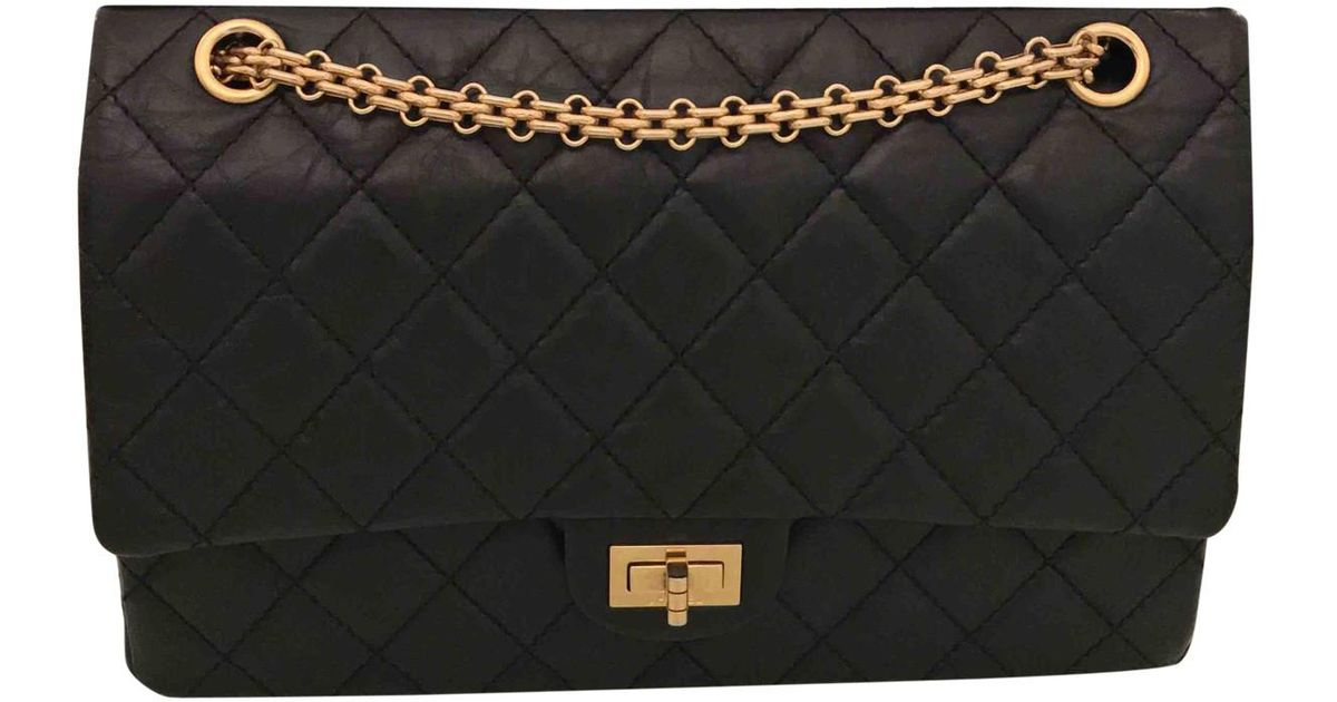 ca3352545bb0 Lyst - Chanel Pre-owned 2.55 Leather Crossbody Bag in Black