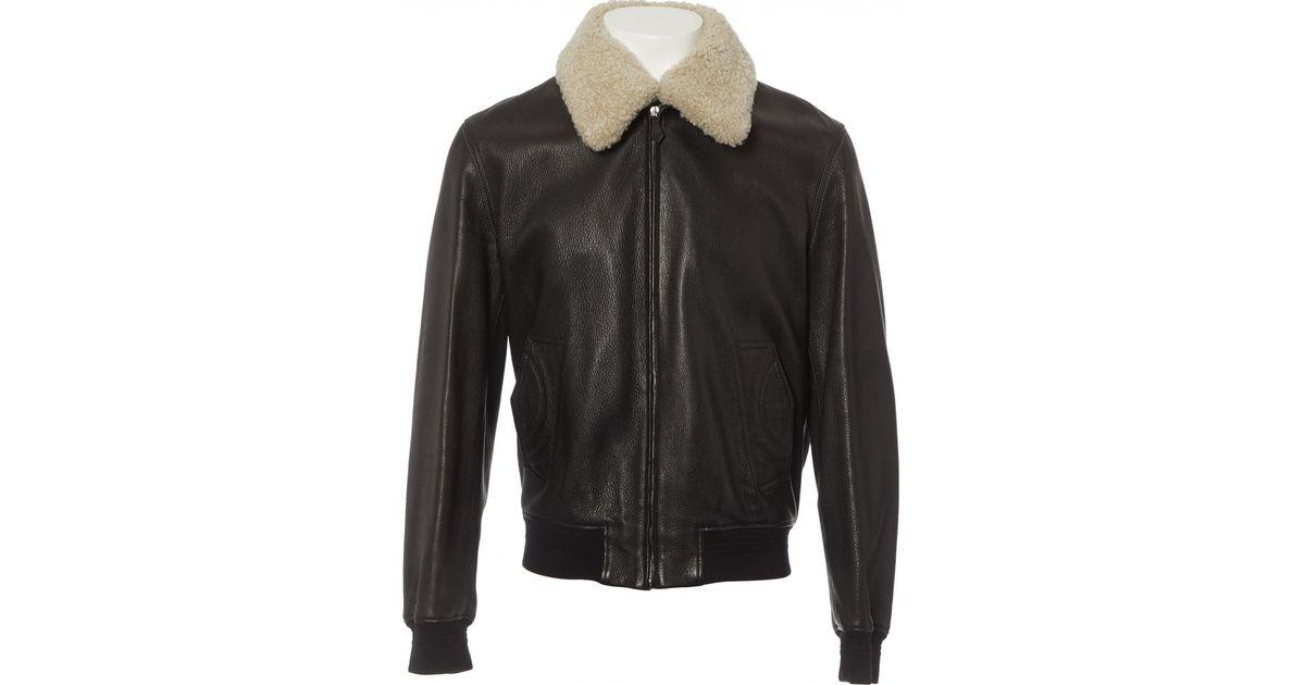 6a6d513e402 Lyst - Blouson en cuir Hermès pour homme en coloris Marron