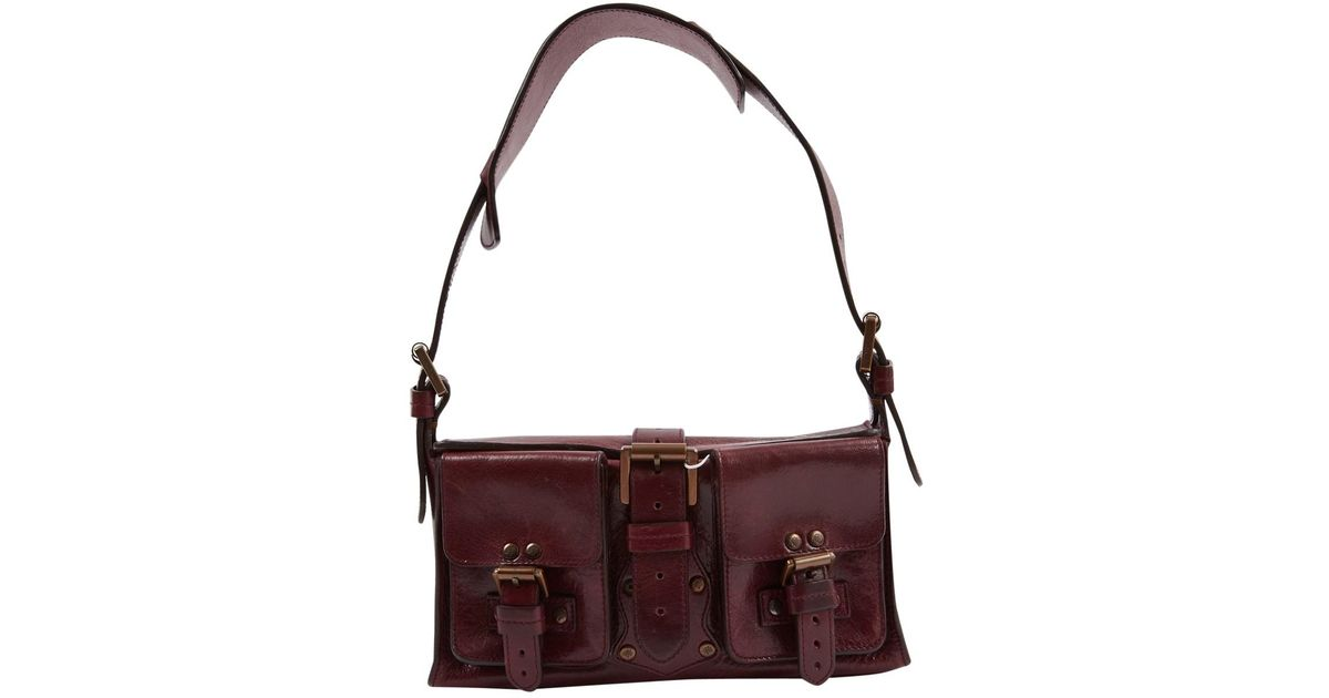 a613e9385ff1 Lyst - Mulberry Roxanne Leather Handbag in Purple