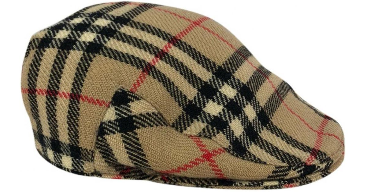 8c0353fa07c Lyst - Burberry Vintage Beige Wool Hats   Pull On Hats in Natural for Men