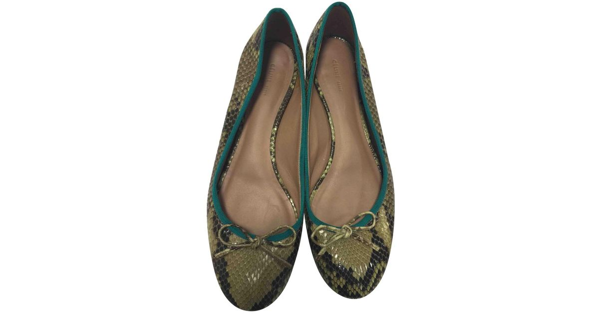 new product b1697 a7f11 celine-Green-Pre-owned-Green-Python-Ballet-Flats.jpeg
