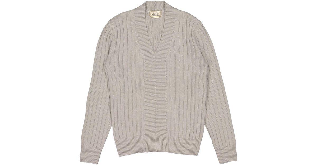 1dcd8a0c0881b1 Hermès Kaschmir Pullover in Grau für Herren - Lyst