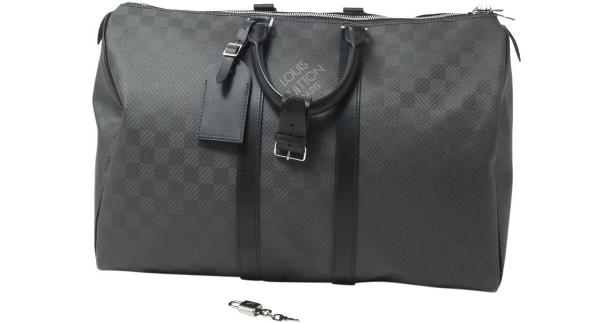 Lyst - Louis Vuitton Pre-owned Keepall Cloth Weekend Bag in Black for Men 25a22c431629e