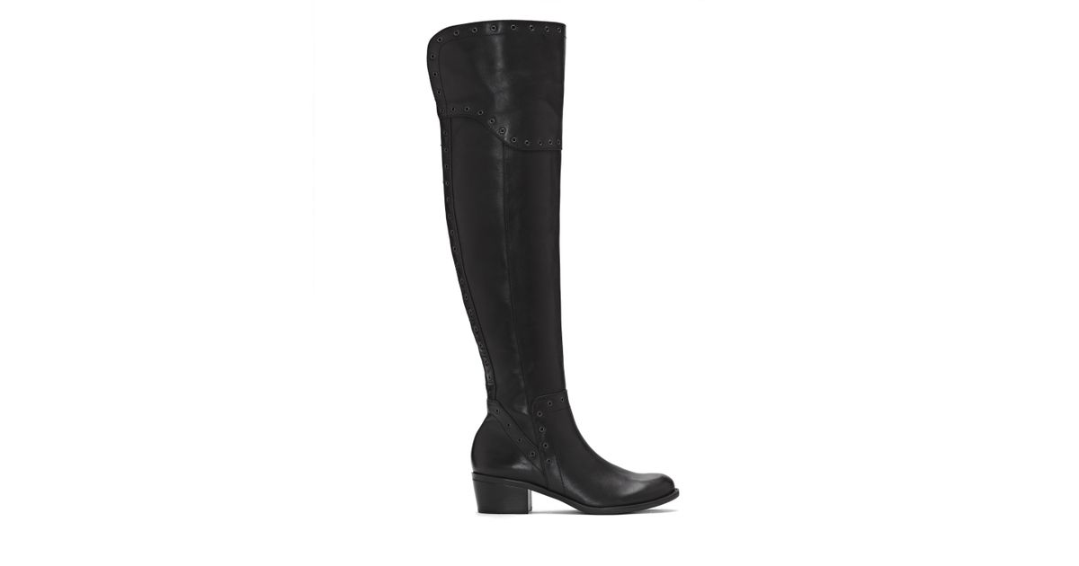 1fdc924faec Lyst - Vince Camuto Bestan – Grommet-embellished Over-the-knee Boot in Black