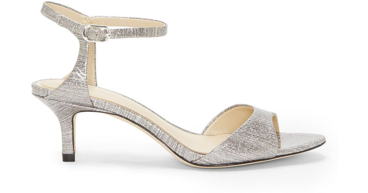 7eaaafaf287 Lyst - Vince Camuto Imagine Keire – Metallic Kitten-heel Sandal in Metallic  - Save 36%