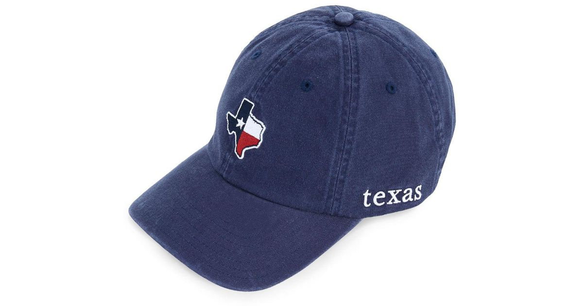 b145adc662433 ... free shipping lyst vineyard vines texas state flag whale baseball hat  in blue for men 3ec4e