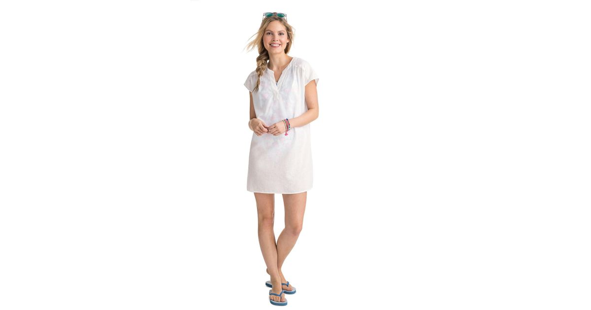 8e3d9b0015 Vineyard Vines Dolman Sleeve Cover Up Dress in White - Lyst