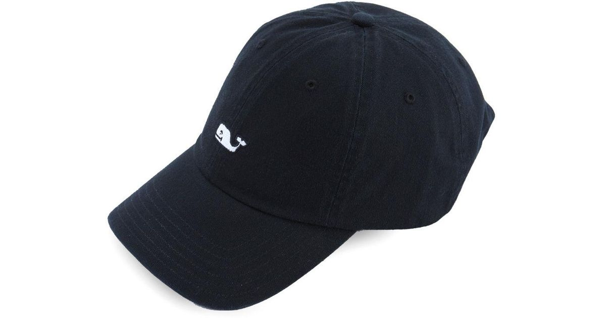 53a614a422ac4 Vineyard Vines Whale Logo Baseball Hat in Black for Men - Lyst