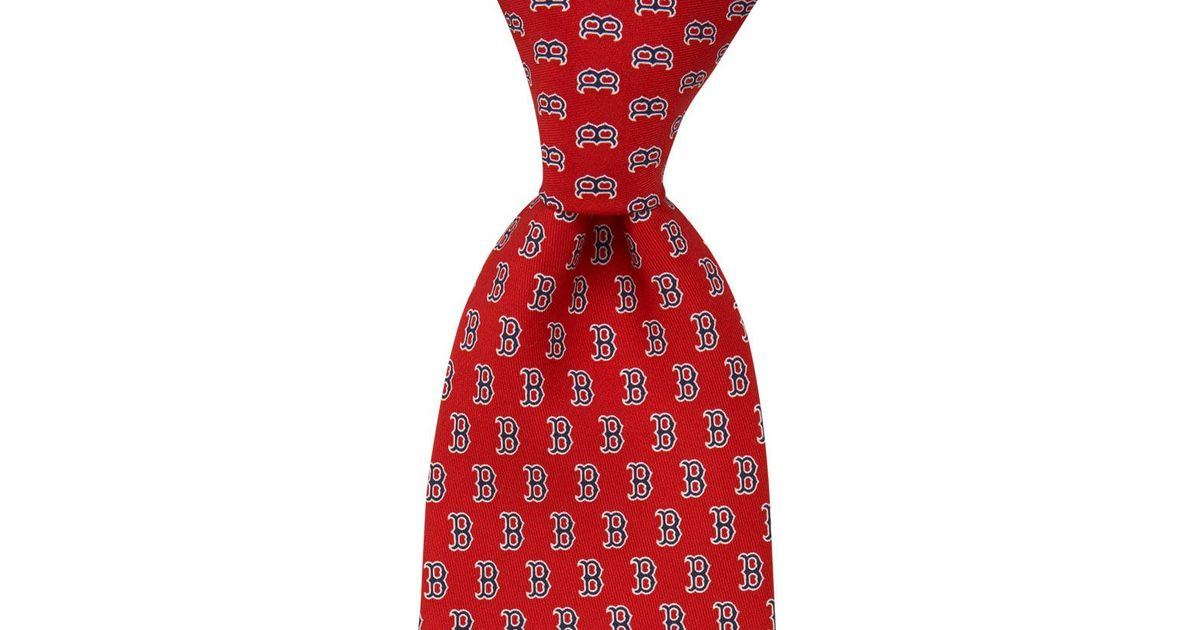 03b219be3608 Vineyard Vines Boston Red Sox Tie in Red for Men - Lyst