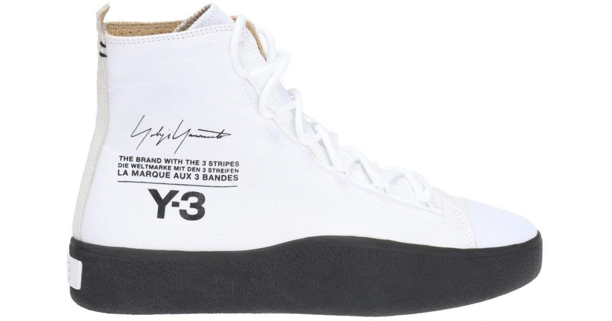 94ec37c1e Y-3  bashyo  High-top Sneakers in White - Lyst