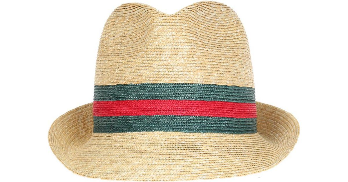444522833cef Lyst - Gucci Straw Hat in Natural