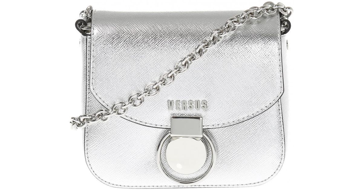 aedc375b3a Versace Shoulder Bag With Decorative Buckle in Metallic - Lyst