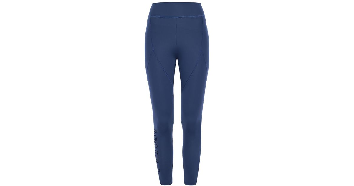 a6c79ff8576cb Fendi Logo-printed leggings in Blue - Lyst